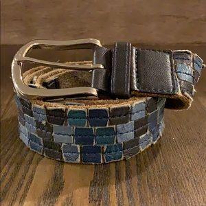 Cole Haan Mosaic Leather Belt Sz. 36